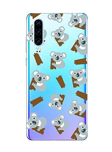 Oihxse Compatible pour Huawei Nova 4 Coque Ultra Fine Transparente TPU Silicone Doux Protection Housse Motif/Exact Fit/Souple pour Huawei Nova 4(Paresse A10)