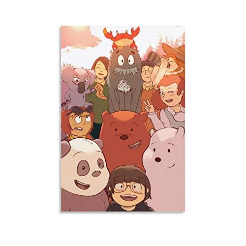 SSKJTC Leinwandbild, Motiv: 'We Bare Bears', 60 x 90 cm