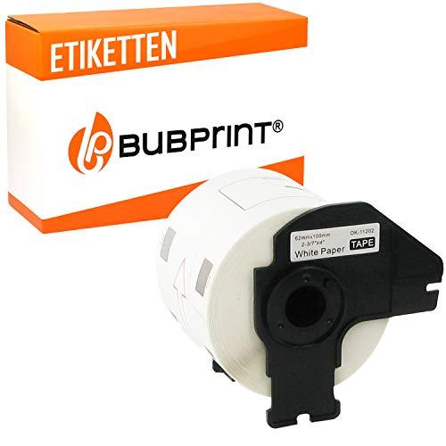 Bubprint Etiketten kompatibel für Brother DK 11202 DK-11202 für P-Touch QL1050 QL1060N QL500BW QL550 QL560 QL570 QL580N QL700 QL710W QL720NW QL810W