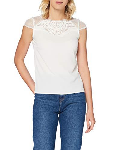Naf Naf Ment53 Camiseta, Marfil (Écru 333), Small para Mujer