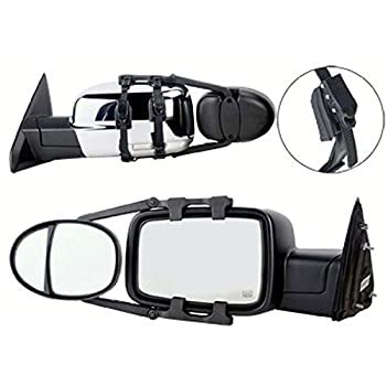 K-Source Inc 3990 Universal Dual Lens Towing Mirrors With Ratchet Mount System 5In X 7In Mirror Head Sold As A Pair
