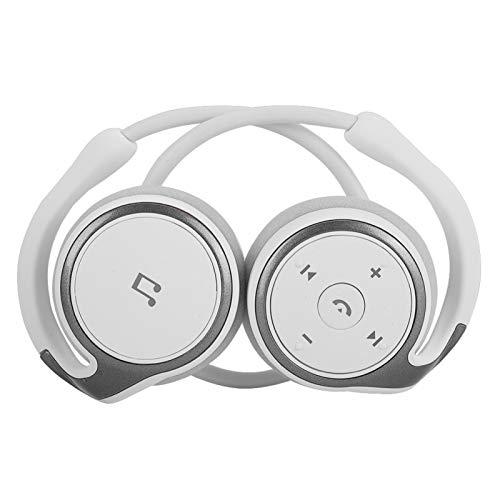 DAUERHAFT Auriculares Deportivos inalámbricos Auriculares Auriculares Música Estéreo 4.1 Chip Bluetooth Portátil, para Deportes, Ocio y Viajes(White)
