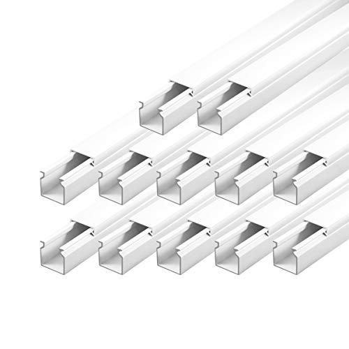 Kabelkanal Installationskanal schraubbar 25 x 25 mm PVC 12 m Wand und Decken Montage allzweck für aller Art von Kabel Haus Büro TV Lautsprecher Telefon Sat Internet ARLI