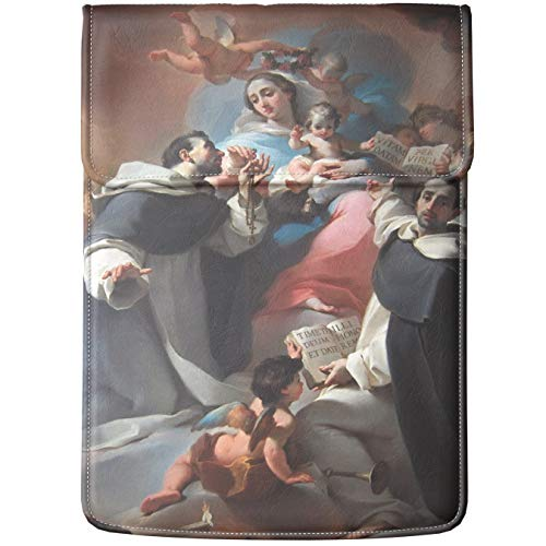 Lex Altern Laptop Sleeve Case for MacBook Air Mac Pro Retina Surface HP Dell ASUS Acer Lenovo 11 12 13 14 15 16 17 inch Painting Madonna with Child Angels Ubaldo Gandolfi Cover Print Religious