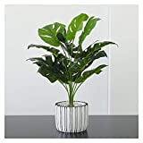 CJshop Plantas Artificiales en Maceta Artificial Palma Planta Plantas de Hoja Verde en Maceta Artificial en Bote for la decoración de sobremesa Falso Plantas Decoracion (Size : H 20.5')