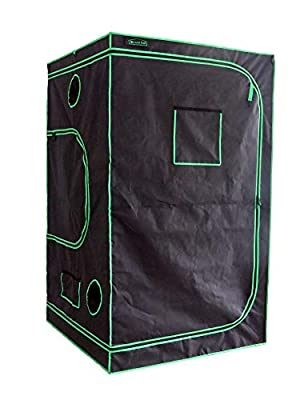"Green Hut 48""X48""X78"" 600D Mylar Hydroponic Indoor Grow Tent"