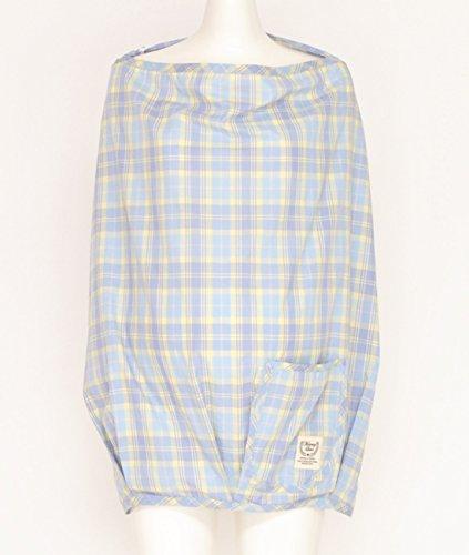 アビックスマミールナポケッタブル授乳ケープ(エプロン型)フリーサックスチェック平織379505