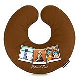 Almohada de Viaje Personalizable con Carga de Fotos Marrón marrón