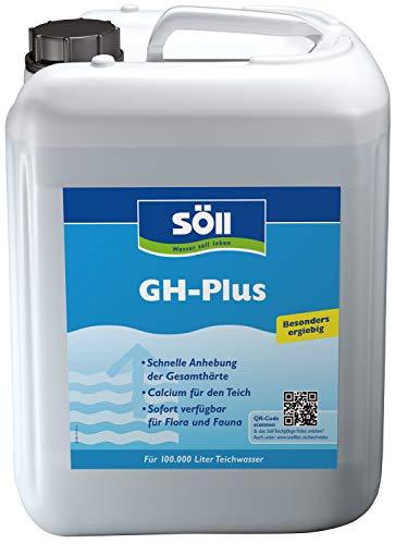 Söll 14169 GH-Plus Wasseraufbereiter zur Erhöhung des GH-Werts 5 Liter - Flüssiges Pflegemittel zur schnellen Optimierung der Gesamthärte des Wassers im Gartenteich Fischteich