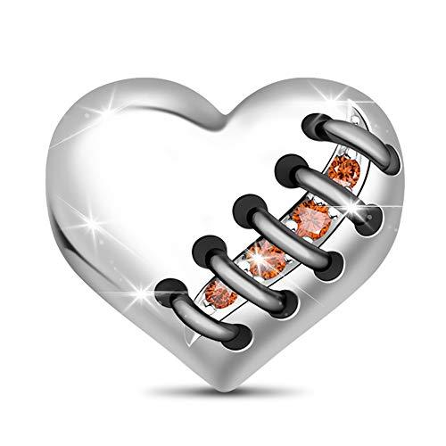 GNOCE Gebrochenes Herz Charm Bead S925 Sterling Silber Heilung für EIN gebrochenes Herz Charm Perlen für Armband Halskette