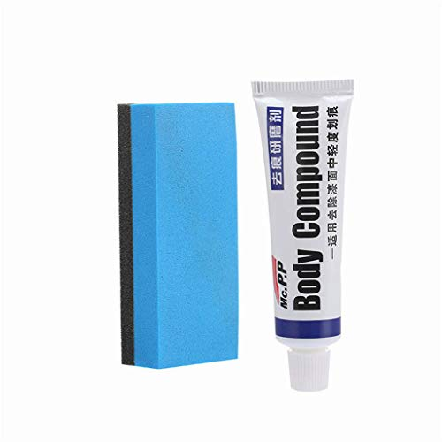 ErYao Paint Scratch Remover Paste, Car Paint Mild Scratch Repair Honing Agent, Remove All Kinds of Stubborn Attachments, Tar, Glue and DIY Paint Color Paint Defects (White)