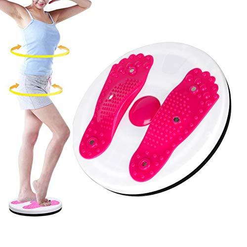 Mankoo Hüfttrainer: Fitness Waist Twisting Disk für die schlanke Taille, Ø 27cm, sportgeräte magnetische Drehplatte, Massageplatte, Aerobic-Training