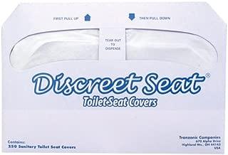 Hospeco Discreet Seat Half-Fold Toilet Seat Covers (20 Packs of 250)