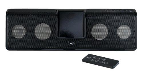 travel speakers for ipods Logitech mm50 Portable Speaker System for iPod (White)