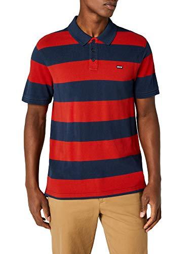 Levi's Herren Housemark Polo Poloshirt, Rugby Dress Blues/Aura Orange, S