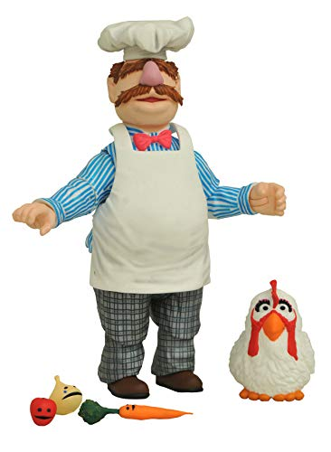 DIAMOND SELECT TOYS The Muppets Best of Series 2: Swedish Chef with Kitchen Action Figure, Multicolor