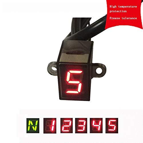ギアインジケーター LED ディスプレイセンサー 汎用 防水 オートバイ スピードメーター プラグアンドプレイ 5/6ギア選択可能 Ammbous