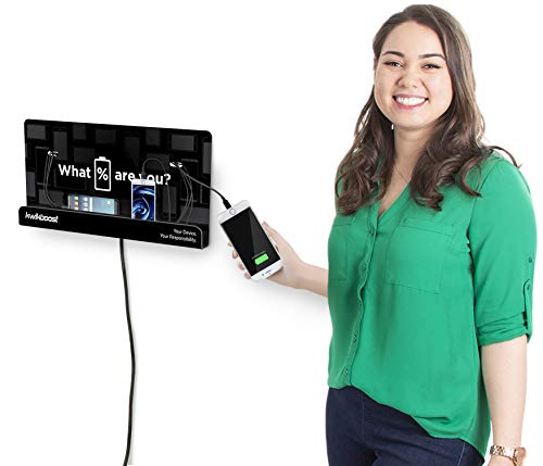 KwikBoost Wall Mount Cell Phone Charging Station | Multi-Device Kiosk with 8 Ports | Compatible with iPhone, iPad, Samsung, Tablets and More! (18' x 9')