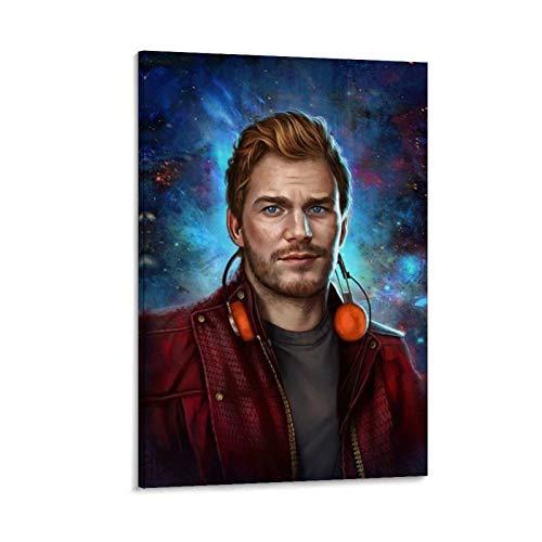 Póster de la película Star Lord, Guardians of the Galaxy, pintura al óleo, impermeable, cuadros decorativos, para dormitorio, oficina en casa, listo para colgar, 60 x 90 cm