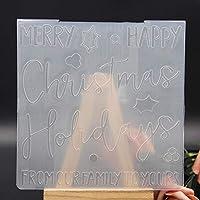 メリークリスマスプラスチックエンボス加工フォルダー DIY スクラップブッキングペーパークラフト/カード作成装飾用品