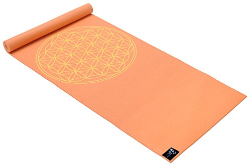 Yogistar Yogamatte Basic Flower of Life, mango