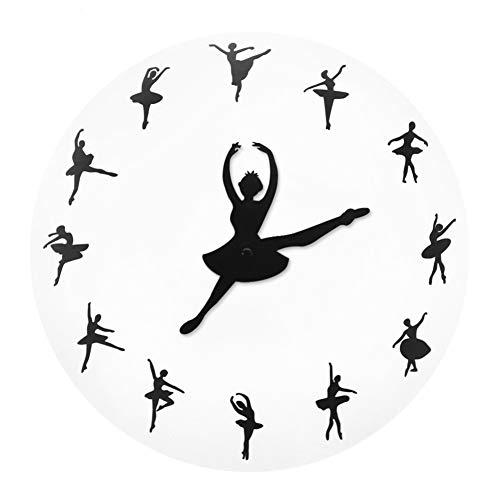 WANGY Ballet Wandklok Dansende Meisje Ballerina Versieren Horloge Op De Wandklok Wanddecoratie Beste Gift Voor Ballerina