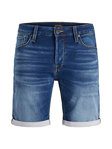 JACK & JONES Herren JJIRICK JJICON GE 006 I.K STS Shorts, Blue Denim, M