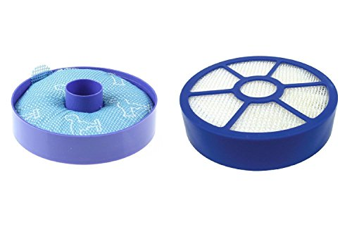 Anicell for Dyson DC33 Animal, DC33 All Floor Replacement Bundle Filter Kit, 1 DC33 Washable Dust Cup Primary Filter, 1 DC 33 Post Motor HEPA Exhaust Filter, Generic for 919563-02 921616-01