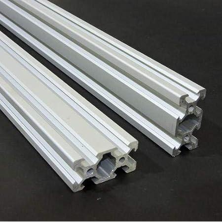 Global Automate 2040 V-Slot Aluminium Extrusion Openbuilds Linear Profile, 3D Printers (Silver, 1000mm)