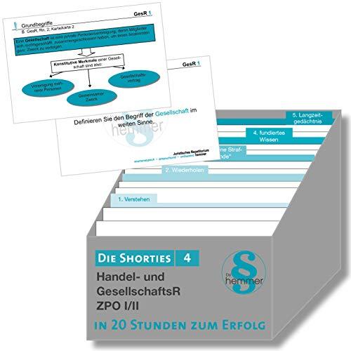 Die Shorties Box 4 - ZPO I/II, HandelsR, GesellschaftsR: In 20 Stunden zum Erfolg (Karteikarten - Zivilrecht)