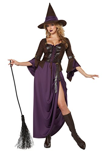California Costumes Damen Salem Hexe Sexy Langes Kleid mit Verstellbarem Saum - Violett - Medium