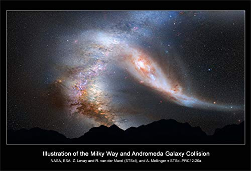 New Horizon Aviation, LLC Milky Way Andromeda Galaxy Collision Hi Gloss...