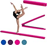 Fun!ture 7ft Folding Gymnastics Balance Beam | Faux Suede | Kids Fitness Training | Home Gym Exercise |...