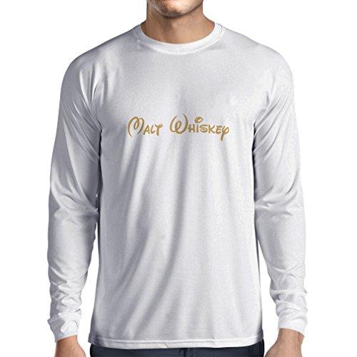 bon comparatif lepni.me T-shirt à manches longues Malt Whisky pour hommes – Citations drôles de boissons, proverbes… un avis de 2021