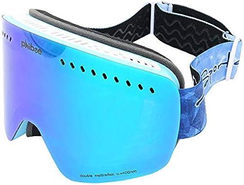 Leon's shop Lunettes de Ski,Surface sphérique Anti-buée Double Couche La myopie Unisexe Coupe-Vent et Anti-poussière est Disponible