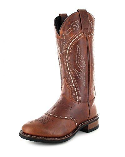 Sendra Boots 8325 Braun-Tang Herren & Damen Westernreitstiefel