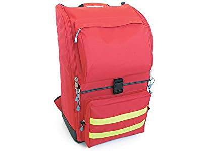 Gima - Ambulance Rusksack, Backpack, Polyester, Dimensions 40x20x47 cm, Red Colour, for Rescuers, Trauma Doctors, Paramedics, First Aid and Civil Protection Professionals from Gima S.p.A.