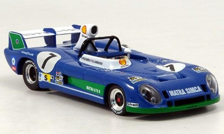 Matra MS670B, No.7, Sieger Le Mans, Pescarolo Larrousse, 1974, Modellauto, 24h LM by IXO 1 43 B004V8S9UK Hervorragende Eigenschaften  | Hohe Qualität und geringer Aufwand