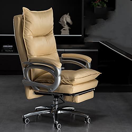 YDYBY Sedia da Gaming Ergonomica da Funzione,Sedia Ufficio Schiena Alta High Supporto Lombare Sedia direzionale Cuscino in Spugna con Poggiapiedi Tavoli e sedie,Cachi