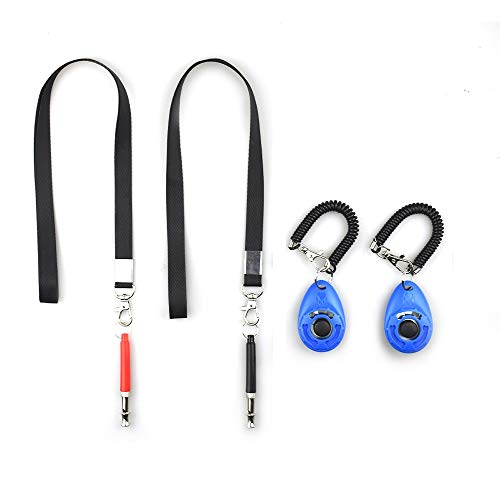 LaZimnInc 2-In-1 Dog Clickers with Whistle