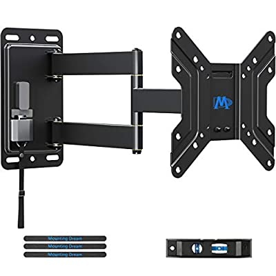 Mounting Dream Lockable RV TV Mount for 17-43 inch TV, RV Mount for Camper Trailer Motor Home Boat Truck, Full Motion Unique One Step Lock Design RV TV Wall Mount, 200mm VESA 44 lbs. MD2210, black from Mounting Dream