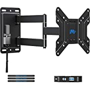 Mounting Dream Lockable RV TV Mount for 17-43 inch TV, RV Mount for Camper Trailer Motor Home Boat Truck, Full Motion Unique One Step Lock Design RV TV Wall Mount, 200mm VESA 44 lbs. MD2210, black