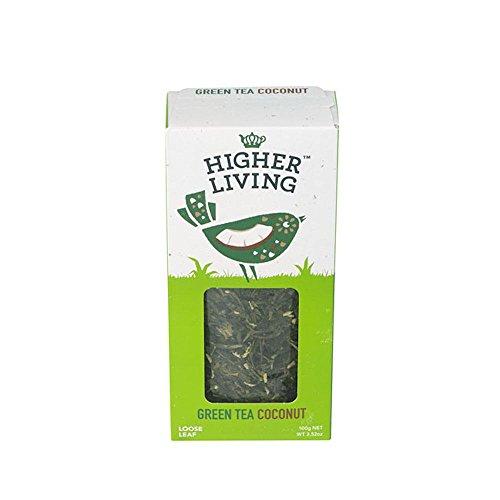 Higher Living Bio Grüntee Kokosnuss, lose 100 g