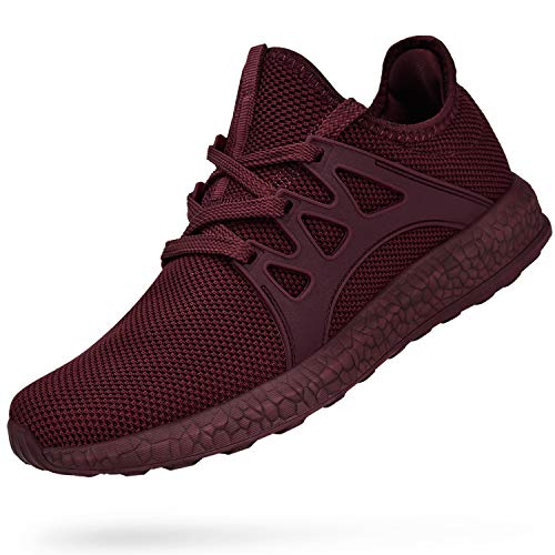 Troadlop Womens Sneakers Mesh Ultra Lightweight Breathable Athletic Running Walking Gym Shoes Red 7 US