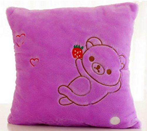 Superjune LP-2 Luminous Pillow Christmas Toys Led Light Plush Funny Pillow Colorful Kids Toys Birthday Gift (Purple)