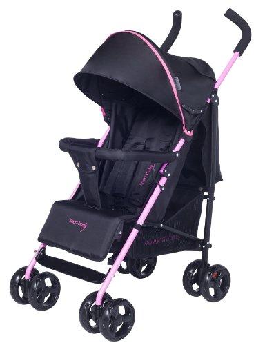 knorr-baby 848002 Styler - Passeggino sportivo con parasole, colore: Nero/Fucsia