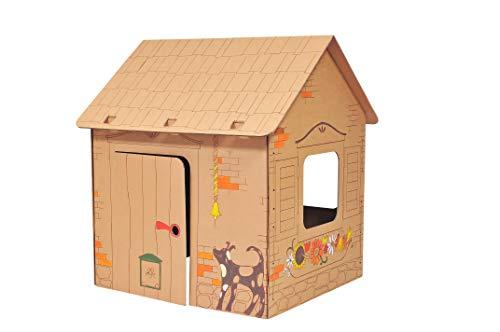 Leiterstein Spielhaus aus Karton I Papphaus zum Bemalen und Basteln I Für Indoor
