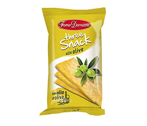 Croccantelle Bruschette Schiacciatine Crostini Taralli FORNO DAMIANI Aperitivo Salato - Box da 10 Pezzi (Three Snack Olive)