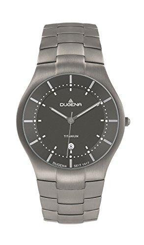 Dugena Herren-Armbanduhr Titan Analog Quarz Titan 4460481