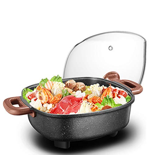 Read About AVKL Classic Electric Skillet Nonstick Cookware Woks Stir-Fry Pans Breakfast with Glass C...